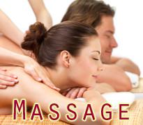 Hands massaging beautiful women